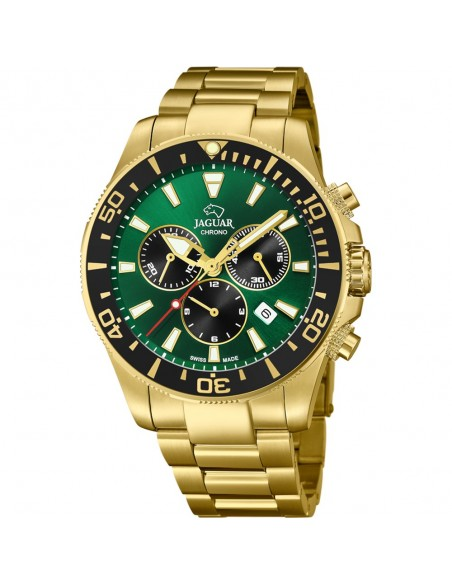 Jaguar Crono Acero Esfera Verde Caballero J864/1