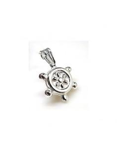 Colgante timón pequeño en plata
