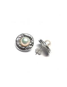 Pendiente Plata Perla