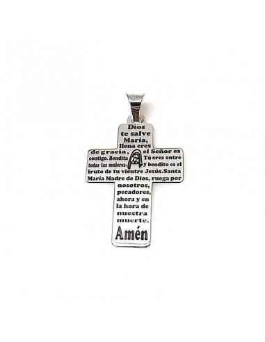 Colgante cruz Ave María