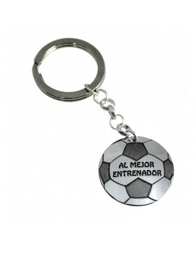 Llavero Plata Balón Del Fútbol Al...