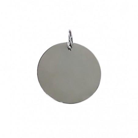 Colgante Plata Disco Liso 16 Mm