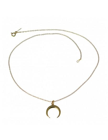 Collar Plata Chapada 1/2 Luna