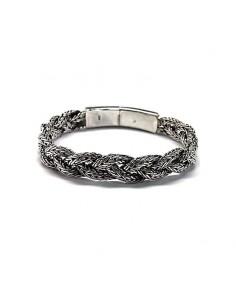 Bracelet En Argent Tressé.