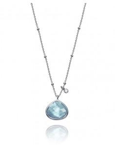 Collar Viceroy Plata De Ley Y Cristal Azul Señora Jewels 85000c000-43