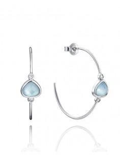 Criollas Viceroy Plata De Ley Y Cristal Azul Señora Jewels Expo 85000e000-43