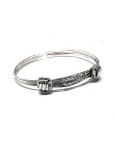Bracelet chevalier noeuds coulissants