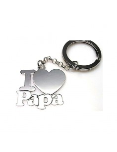 Llavero Plata I Love Papá