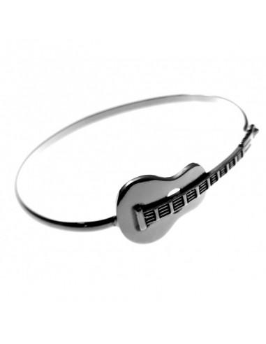 Pulsera Plata Guitarra Rígida Oxy