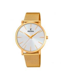 60c81faf42c8 Reloj Festina Unisex Acero Dorado Esfera Blanca F20476 1