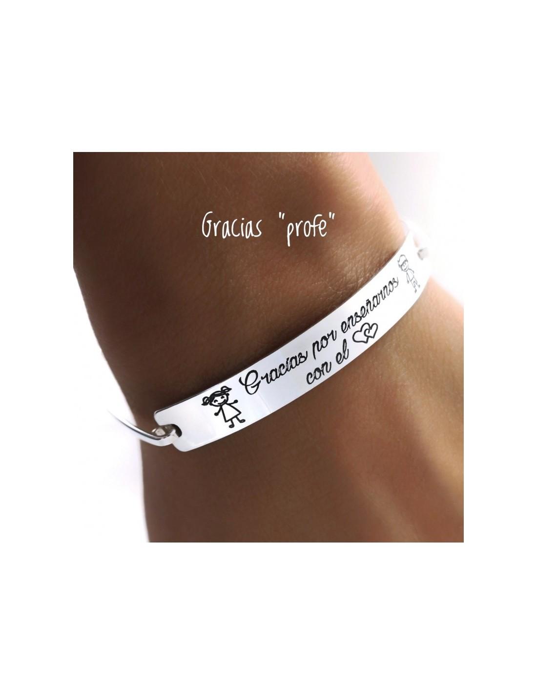 bracelet en argent rigide merci pour l u0026 39 enseignement de