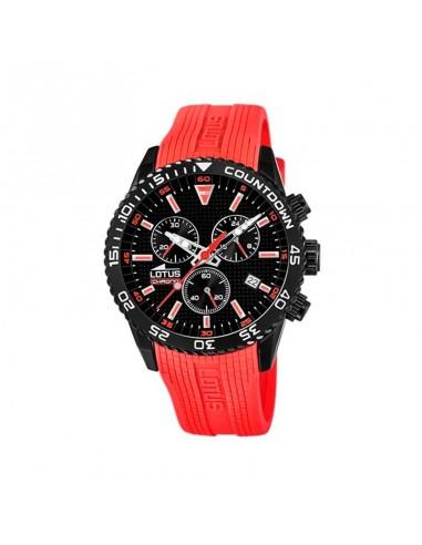 Reloj Lotus Crono Acero Correa Roja...