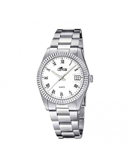 Reloj Lotus Acero Esfera Blanca Mujer 15822/1