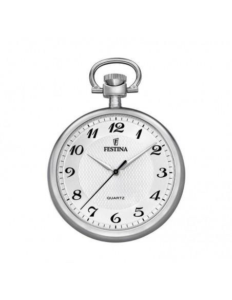 Reloj Festina Bolsillo Acero Caballero Con Cadena F2020/1