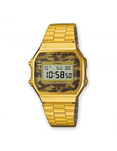 Reloj Casio Digital Dorado Camuflaje Unisex A168WEGC-5EF