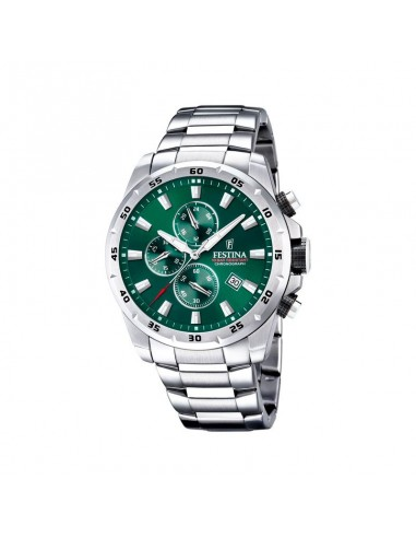 Reloj Festina Crono Acero Esfera Verde Caballero F20463/3