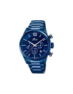 Reloj Lotus Crono Acero Esfera Azul Caballero 18680/1