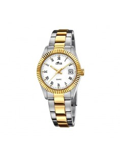 Reloj Lotus Bicolor Esfera Blanca Señora 15823/1