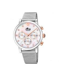 Reloj Lotus Crono Acero Esfera Blanca Señora 18676/1