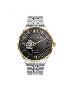 Reloj Viceroy Automático Acero Ip Dorado Brazalete Caballero 471239-53