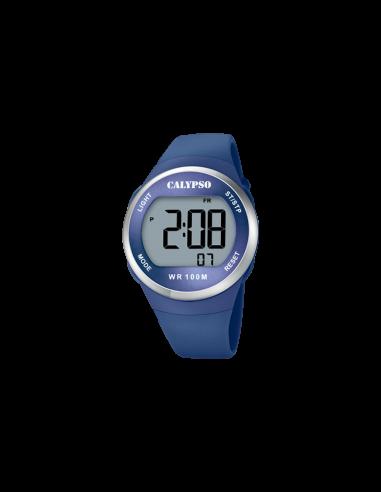 Reloj Calypso Digital Correa Y Esfera Azul Caballero K5786/3