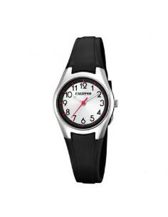Reloj Calypso Correa Negra Señora Esfera Blanca K5750/6
