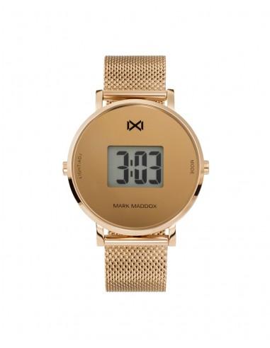 Reloj Mark Maddox Digital Acero Ip Rosa Brazalete Señora Mm0118-90