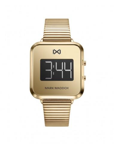 Reloj Mark Maddox Digital Acero Ip Dorado Brazalete Señora Mm0119-90
