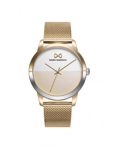 Reloj Mark Maddox Acero Ip Dorado Brazalete Señora Mm7142-20