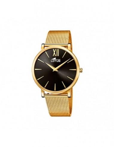 Set Reloj Lotus Acero Esfera Negro...