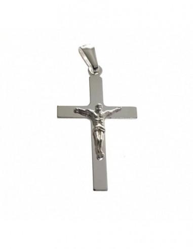 Cruz Plata De Ley Y Cristo Plana