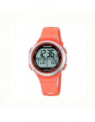 Reloj Calypso Digital Correa Naranja...