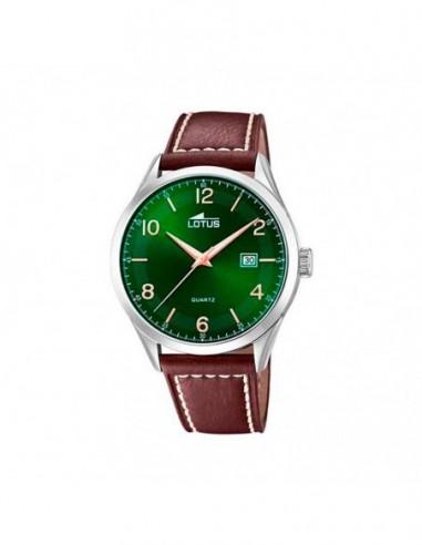 Reloj Lotus Acero Correa Esfera Verde...