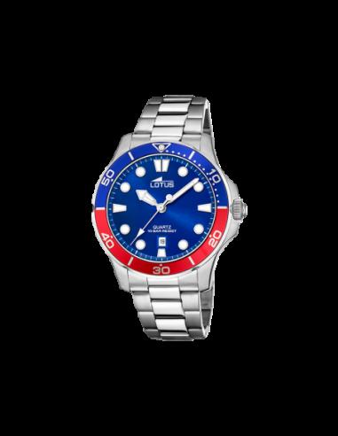 Reloj Lotus Acero Azul Rojo Caballero...