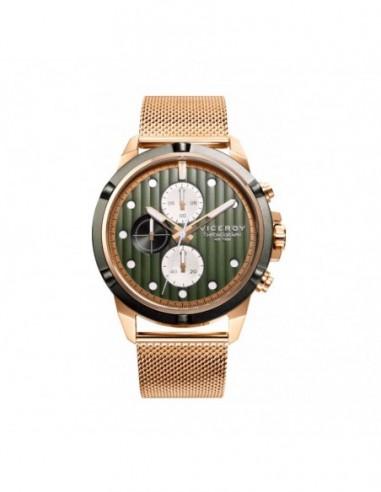Reloj Viceroy Crono Acero Ip Dorado Y...