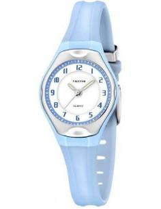Reloj Calypso Esfera Blanca Correa Celeste Niña K5163/M