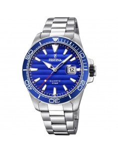 Festina Acier Cadran Bleu Gentleman. F20360/1