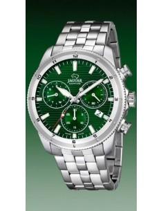 Jaguar Crono Acero Esfera Verde. J687/c