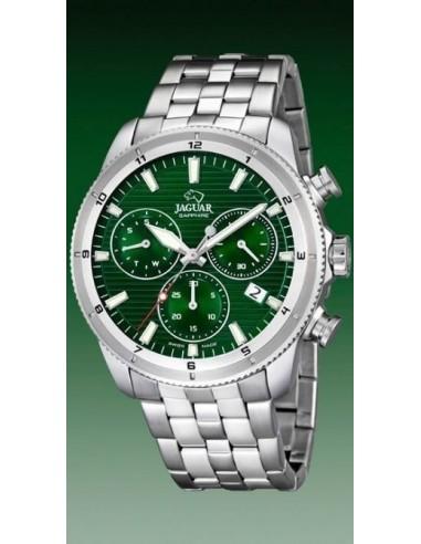 1f3a6f22c5d3 Jaguar Crono Acero Esfera Verde. J687 c