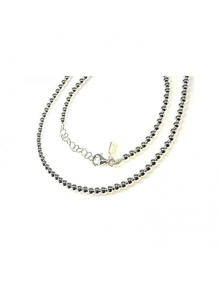 Collar Plata Bolas 3mm Grosor, 45cms Largo.