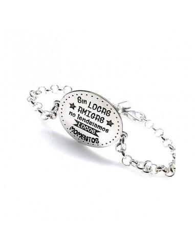 """Bracelet """" sans fou des amis ..."""""""