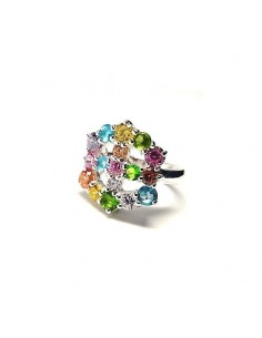 Sortija circonita multicolores