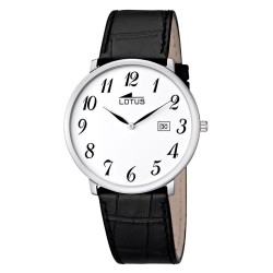 montre lotus chevalier, sangle de peau, machine de quartz 10119/1